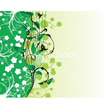 Free abstract floral background with space for text vector - Free vector #246679