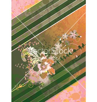 Free grunge floral background with birds vector - Free vector #246749