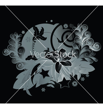 Free abstract floral background vector - Free vector #246859