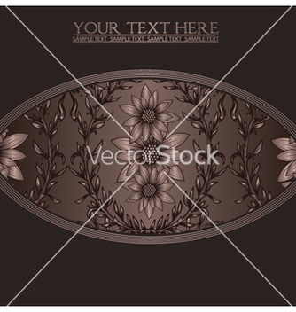 Free vintage background with floral vector - Kostenloses vector #247139