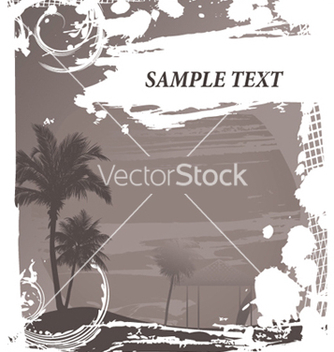 Free vintage summer background with palm trees vector - Kostenloses vector #247329