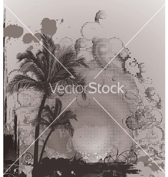 Free summer poster with palm trees vector - vector gratuit #247359