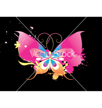 Free splash background with butterfly vector - vector gratuit #247429