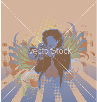 Free concert poster with trumpet player vector - Free vector #247439