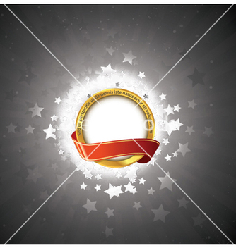 Free label with stars vector - vector #247569 gratis