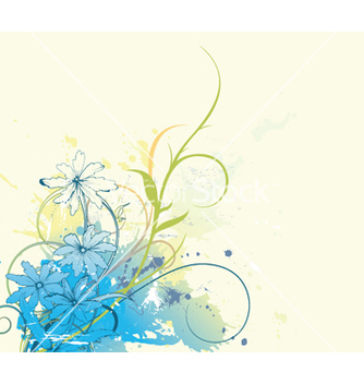 Free splash floral background vector - vector gratuit #247599