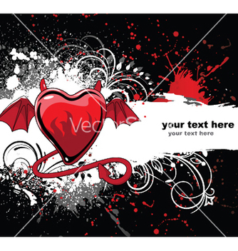 Free heart with grunge and floral vector - Free vector #247659