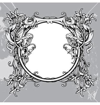 Free baroque floral frame vector - vector gratuit #247779