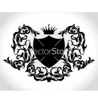 Free vintage emblem with shield and crown vector - Free vector #247809