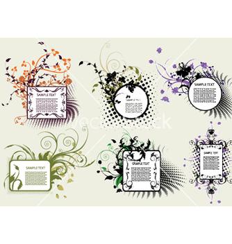 Free vintage floral frames set vector - Free vector #247849