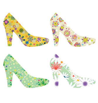 Free stylized woman shoes vector - Free vector #247889