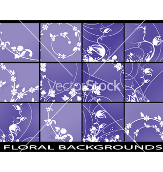 Free abstract floral backgrounds set vector - Free vector #247919