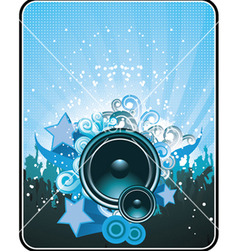 Free concert poster with speaker vector - Free vector #247969