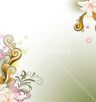 Free abstract floral background vector - Kostenloses vector #248009