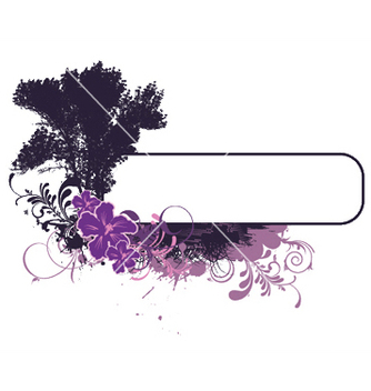 Free grunge floral frame with tree vector - Free vector #248069