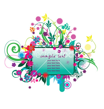 Free spring floral frame vector - Kostenloses vector #248079
