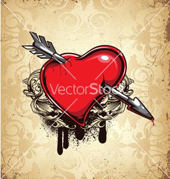 Free vintage heart vector - Free vector #248099