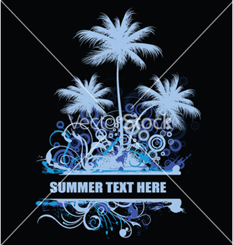 Free vintage summer background with palm trees and vector - Free vector #248129