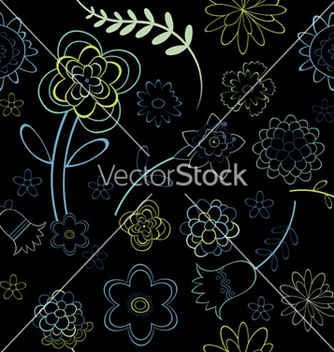 Free floral seamless pattern vector - Free vector #248309