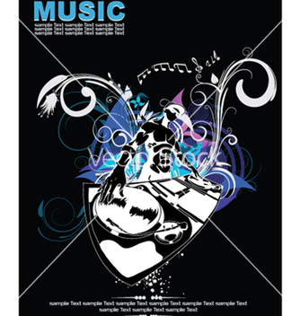 Free music background with dj vector - Kostenloses vector #248359