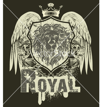 Free grunge tshirt design with shield vector - Kostenloses vector #248369