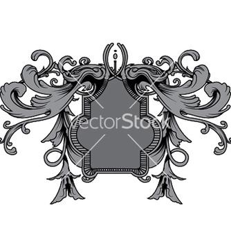 Free baroque floral ornament vector - Kostenloses vector #248459