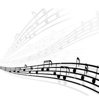 Free musical background with different notes vector - Kostenloses vector #248489