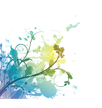 Free watercolor floral vector - vector gratuit #248629
