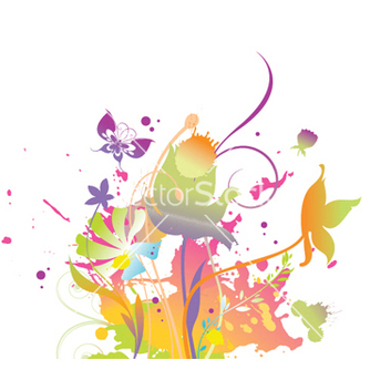 Free splash floral background vector - vector gratuit #248639