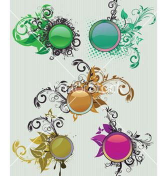 Free vintage floral frames set vector - Free vector #248739