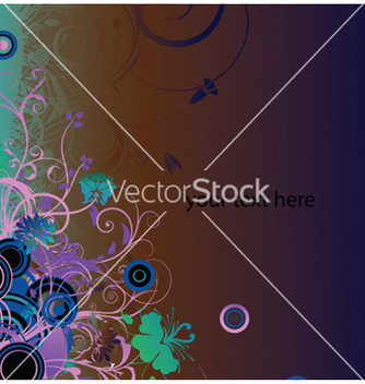 Free abstract floral background vector - Free vector #248769