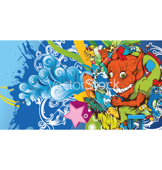 Free funny monsters background vector - Free vector #248979