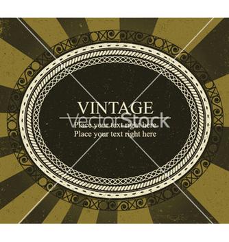Free vintage frame vector - Kostenloses vector #249199