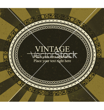 Free vintage frame vector - vector gratuit #249199