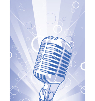 Free concert poster with microphone vector - бесплатный vector #249279