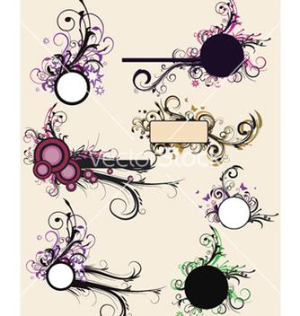 Free vintage floral frames set vector - Kostenloses vector #249349