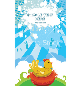 Free easter background with hen vector - vector #249399 gratis