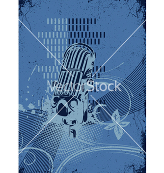 Free concert poster with microphone vector - бесплатный vector #249439