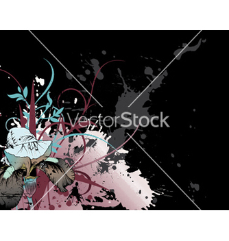 Free splash floral background vector - Free vector #249639