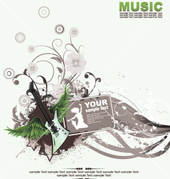 Free music background vector - vector gratuit #249729