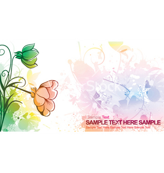Free watercolor floral vector - vector gratuit #249749
