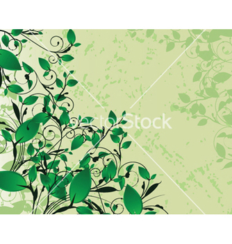 Free floral background with splash vector - vector gratuit #249889