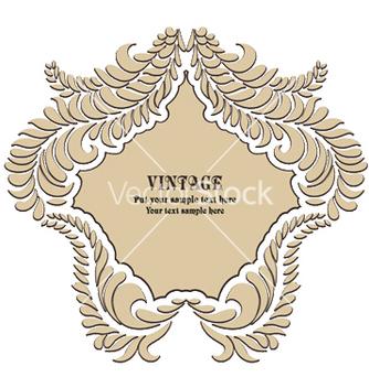 Free vintage floral frame vector - Free vector #250009