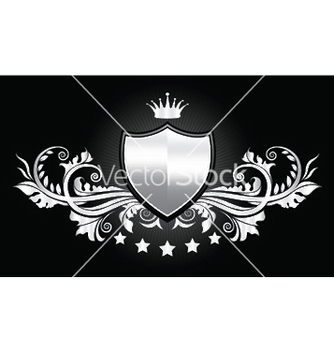 Free vintage emblem with shield vector - Kostenloses vector #250169