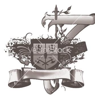 Free vintage emblem with shield vector - Kostenloses vector #250519