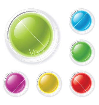 Free glossy buttons vector - Free vector #250619