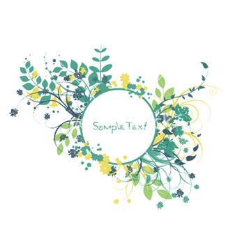 Free spring floral frame vector - Kostenloses vector #250649