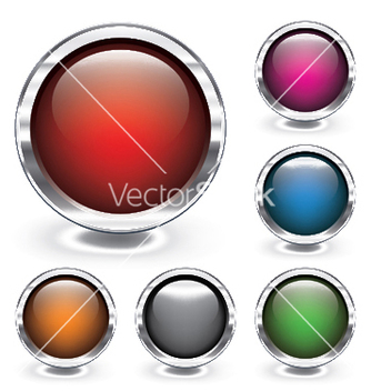 Free glossy buttons vector - Free vector #250899