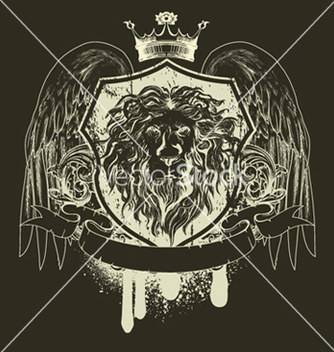 Free grunge tshirt design with shield vector - Kostenloses vector #250969