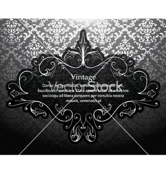 Free vintage silver floral frame vector - Free vector #250989